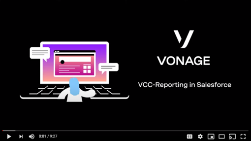 Cover slide for VCC reporting in Salesforce demo video